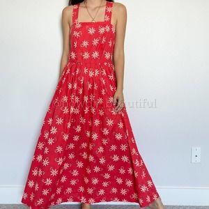 Vintage Laura Ashley Daisy Maxi Dress Size 10